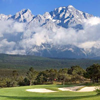 Golf courses in China, Jade Dragon Lijiang's has a delightful mountain course