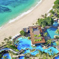 Hilton Bali aerial view of beach and pool