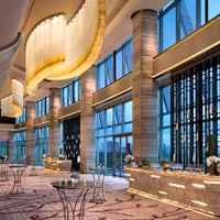 Shenzhen MICE venues, JW Marriott Bao'an, spacious foyer for meetings and grand ballrooms