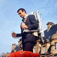 James Bond in Thunderball, rocket belt