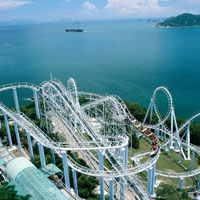 Dragon roller coaster in Hong Kong's Ocean Park