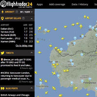 Top travel sites for air traffic flow - Flightradar24