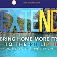 Department of Tourism Philippines website - officious but colourful