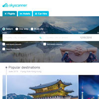 Best travel sites for airline info and tickets, SkyScanner