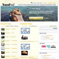 Top travel sites, TravelPod, peer reviews