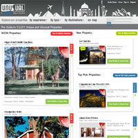 Most interesting travel sites for Asia, Unusual Hotels of the World, niche travel site