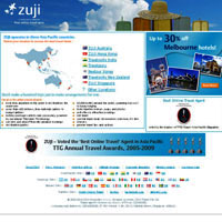 Best travel sites for Asia, Zuji, online bookings
