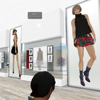 Second Life shopping for the latest in women's fashions