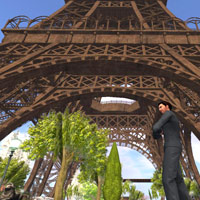 Posing at the Eiffel Tower, Paris