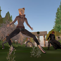 Second Life, Lost Garden, tai chi and dance