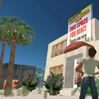 Second Life virtual travel, first rent a home