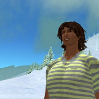 Catching the rays at a ski slope in Second Life