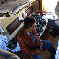 Trans Siberian train bunks in third class