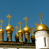 Trans-Siberian Railway guide, see Kremlin cuppolas, Moscow
