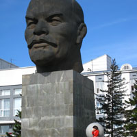 World's largest Lenin head at Ulan Ude