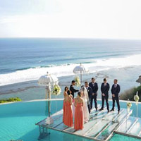 Bali wedding, Bulgari Resort 'floating on water'