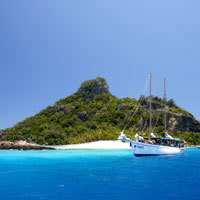 South Sea Cruises can arrange yachts and boat cruises around Fiji