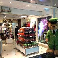 Harrods and its bear arrive at Hong Kong Airport Terminal 1