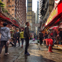 Bowrington Road Causeway Bay is a fresh produce street market know for meat