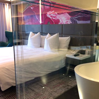 Park Lane Pullman Hong Kong has attractive Executive rooms with peek-out baths