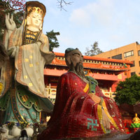 Hong Kong fun, Kuan Yi temple and statues at Repulse Bay