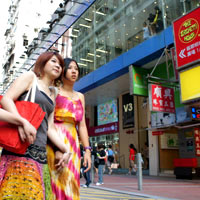 Hong Kong shoppers in Causeway Bay