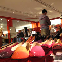 Hong Kong shoe shopping is easy at the LAB, Queensway - Pedder Red