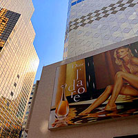 Sogo is a top shopping mall in Hong Kong with glutzy billboards