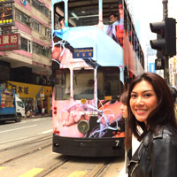 The top deck of a tram is a great way to enjoy the sights of Hong Kong