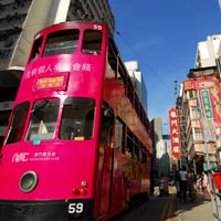 Hong Kong shopping, tour Wanchai by tram