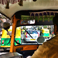 Bangalore fun guide, autorickshaw scooters are a cheaper way to get around