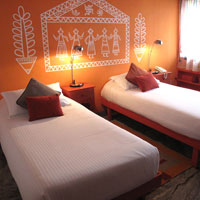New Delhi boutique hotels, Amarya's Orange Room