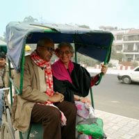 Delhi fun guide, Cycle rickshaw Old Delhi transport