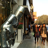 Khan Market knight in armour - local Indian designer shopping