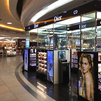 Duty free shopping at Delhi Airport, Dior perfumes