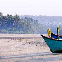 Goa fun guide, fishing boats near Palm Grove