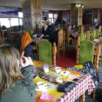 Gulmarg dining at Kongdori restaurant