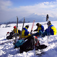 Gulmarg, Ski Patrol takes a break