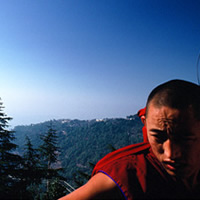 Tibetan monk at Dharamsala