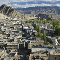 Ladakh fun guide for the family, view of Leh town