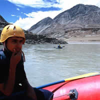 Rafting on the Indus