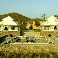 Rajasthan luxury tented camps, Aman-i-Khas tent