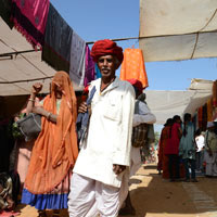 Rajasthan palace hotels guide and Pushkar Camel Fair tips, bright turban