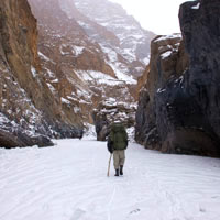 Zanskar winter treks, along the frozen river