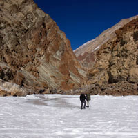 Zanskar adventure guide, frozen river trek