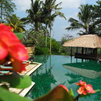 Bali resorts review, Amandari pool