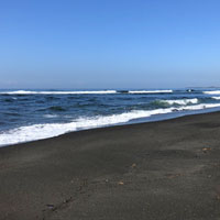 Bali black sand beaches line the east coast