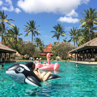 Guide to Bali family hotels, InterContinental Bali at Jimbaran pool