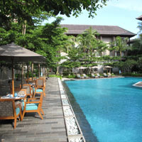 Bali child-friendly hotels, Courtyard in Nusa Dua