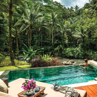 Top Bali spas, Four Seasons Sayan villa pool